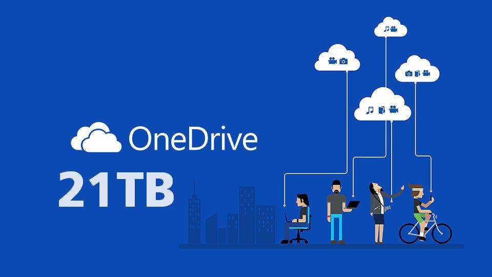 tài khoản One Drive 21TB